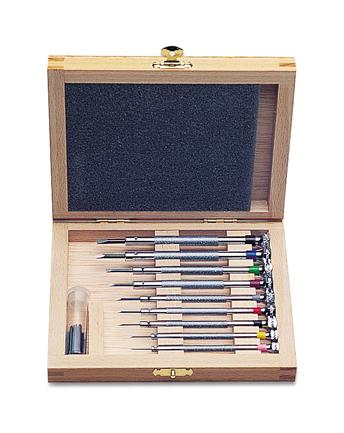 set screw screwdriver set in wooden box. Black Bedroom Furniture Sets. Home Design Ideas